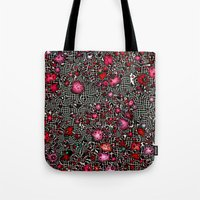 sci fi Tote Bags featuring Sci-Fi Fantasy Cosmos by MehrFarbeimLeben