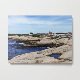 Peggy's Cove, One Monday Metal Print