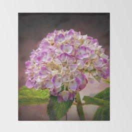 Hydrangea - textured Throw Blanket