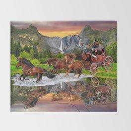Wells Fargo Stagecoach Throw Blanket