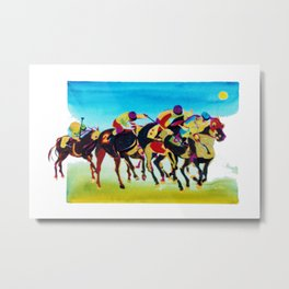 AT THE RACES              by  Kay Lipton Metal Print