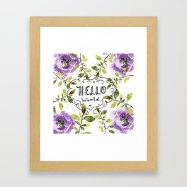 Hello world (everyday 7/365) Framed Art Print