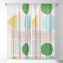 Abstraction_Minimal_Shapes_001 Sheer Curtain