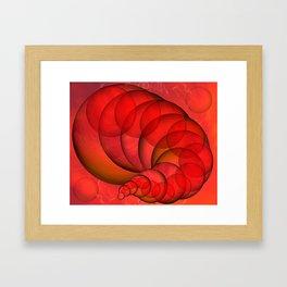 Sphere Worm Framed Art Print
