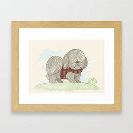Moppy The Dog Framed Art Print