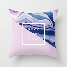 it's a vibe   bleu's creations Throw Pillow