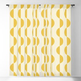 Gwynne Pattern - Golden Blackout Curtain