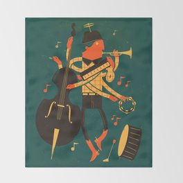 Music Man Throw Blanket