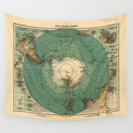 Map of Antarctica from 1912 (Süd-Polar-Karte) Wall Tapestry