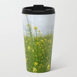Field of Green and Gold Travel Mug