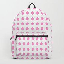 pink polka dot- polka dot,pattern,dot,polka,circle,disc,point,abstract,minimalism Backpack