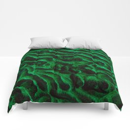 Fluoro Topography Coral Comforters