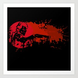 Red Splash Art Print
