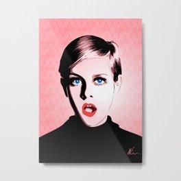 Twiggy - Pop Art Metal Print