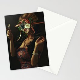 Queen of Heart Flowers Stationery Cards