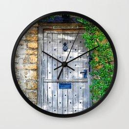 Vintage Grey Door Marker - For Doors & Travel Lovers Wall Clock