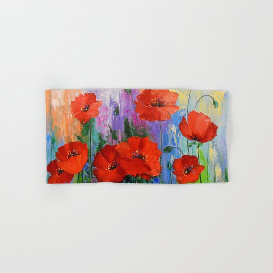 Poppies Hand & Bath Towel
