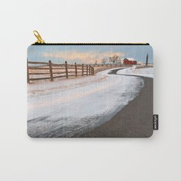 Winding Winter Road Carry-All Pouch