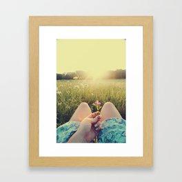 Delicate Flower Sunset Framed Art Print