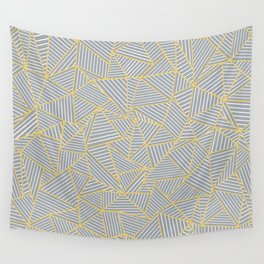 Ab Outline Gold and Grey Wall Tapestry