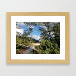 Hidden Bay Framed Art Print