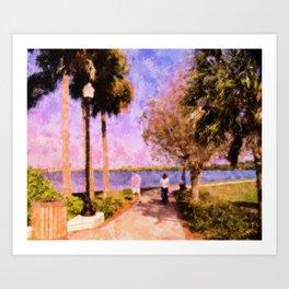 Peace River Stroll Art Print