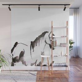 Watercolor Horse Painting Wall Mural