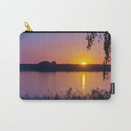 Beautiful sunset over the lake Carry-All Pouch
