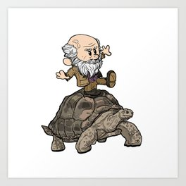 Darwin and Harriet Art Print