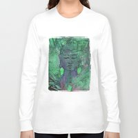 queer Long Sleeve T-shirts featuring Queer Buddha ~ Wisdom II by Jamila