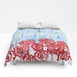 raindrops on roses Comforters