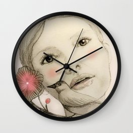 melodie in blush Wall Clock