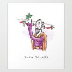 Dooku the Halls Art Print