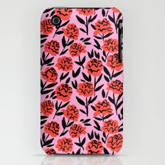 Red Peonies iPhone (3g, 3gs) Slim Case