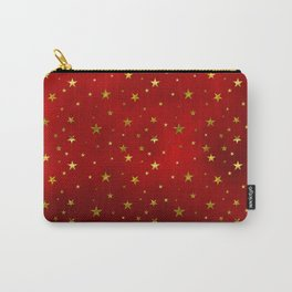 Golden Stars on Royal Red Carry-All Pouch