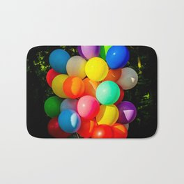 Colorful Toy Balloons Bath Mat