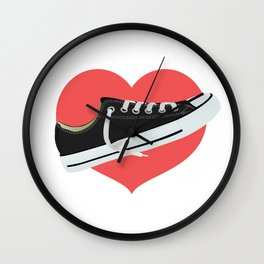 I love to wear trainers Wall Clock