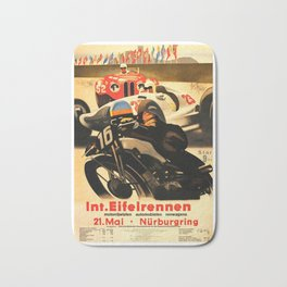 Nurburgring Race, vintage poster Bath Mat