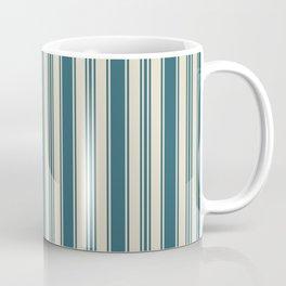 Vintage wallpaper design dark teal pattern Coffee Mug