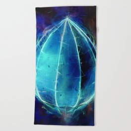 'Harbinger' inverted Beach Towel