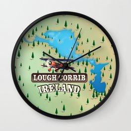 Lough Corrib Ireland map Wall Clock