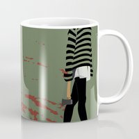 blood Mugs featuring blood by Eda ERKOVAN