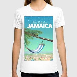 'Pure Paradise' Jamaica travel poster T-shirt
