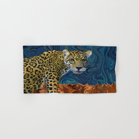 Leopard with the Sky in His Eyes Hand & Bath Towel
