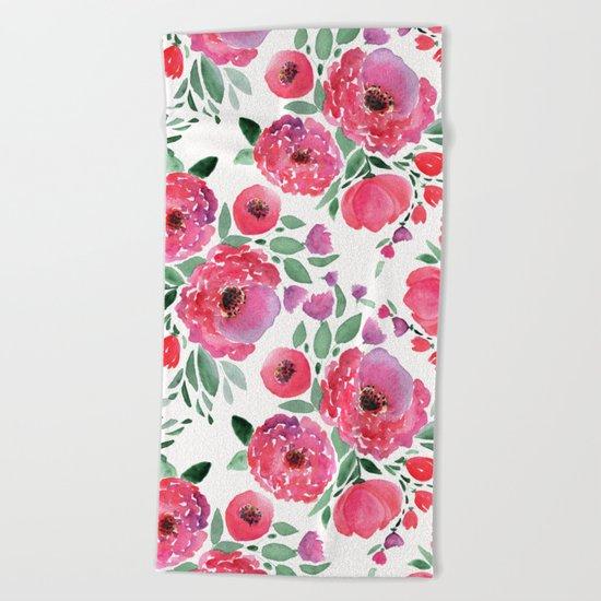 flower pattern 6 Beach Towel