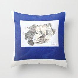 des Königs Blau Throw Pillow