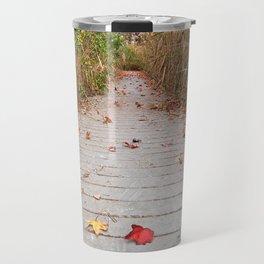 Autumn Marsh Boardwalk Travel Mug