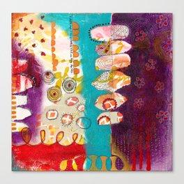 Doodle Me Happy Canvas Print