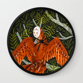 Forest Spirits Wall Clock
