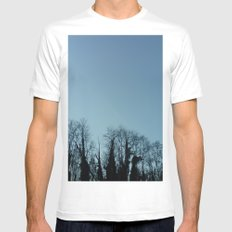 Fog and Forest- wood,mist,romantic, greenery,sunset,dawn,Landes forest,fantasy Mens Fitted Tee MEDIUM White